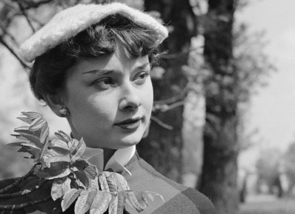 Actress Audrey Hepburn (1929 - 1993) in Kew Gardens, London, May 1950. She is in London after a season performing in the revue, 'Sauce Piquante'. Original Publication: Picture Post - 5035 - We Take A Girl To Look For Spring - pub. 13th May 1950 (Photo by Bert Hardy/Picture Post/Hulton Archive/Getty Images)