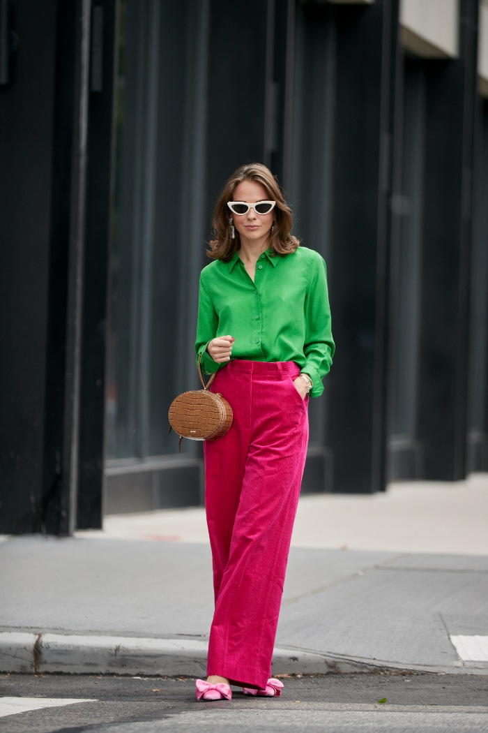 verde y rosa, street style