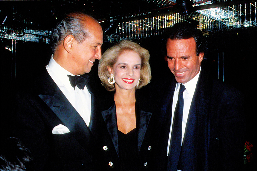 Oscar de la Renta Carolina Herrera Julio Iglesias Foto-Getty Images