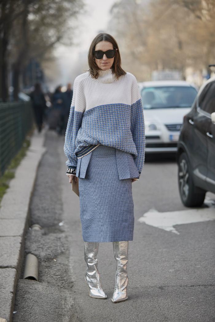 5 formas de combinar tu suéter con falda