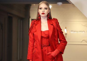 benito santos, diseño mexicano, moda nacional, otoño-invierno, moda 2020, tendencias de moda, tendencia rojo