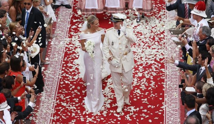 Charlene Wittstock , vestidos de novia, vestidos de la realeza, vestidos para casarse, bodas reales