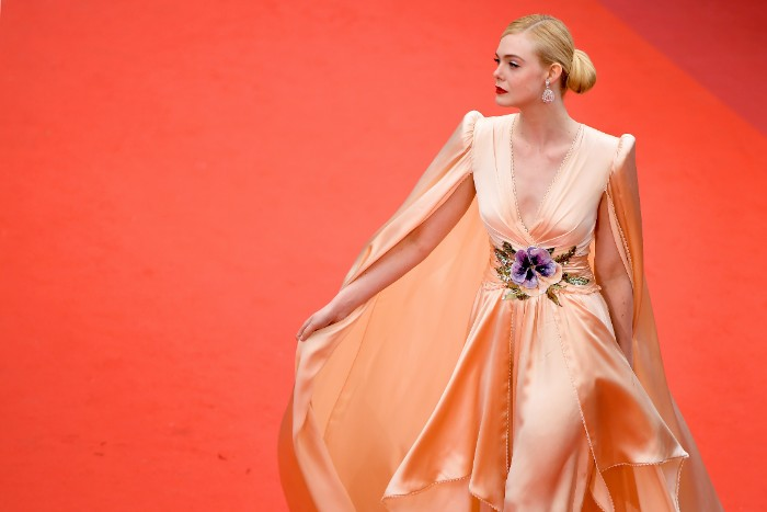 "Elle Fanning, CANNES, FRANCE - MAY 14: Jury Member Elle Fanning, wearing Chopard jewels, attends the opening ceremony and screening of ""The Dead Don't Die"" during the 72nd annual Cannes Film Festival on May 14, 2019 in Cannes, France. (Photo by Matt Winkelmeyer/Getty Images)"