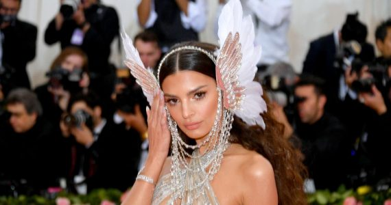 Emily Ratajkowski attends The 2019 Met Gala Celebrating Camp: Notes on Fashion at Metropolitan Museum of Art on May 06, 2019