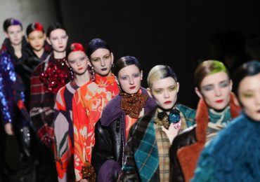 PARIS, FRANCE - FEBRUARY 26: (EDITORIAL USE ONLY) Models walk the runway during the finale of the Dries Van Noten show as part of the Paris Fashion Week Womenswear Fall/Winter 2020/2021 on February 26, 2020 in Paris, France. (Photo by Victor Boyko/Getty Images)