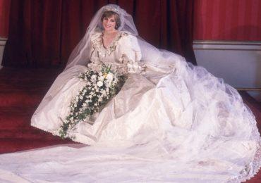 historia real del vestido de novia de la princesa diana