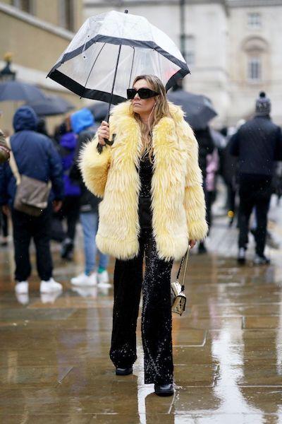 Cómo usar abrigos de fur 2020 2021 amarillo