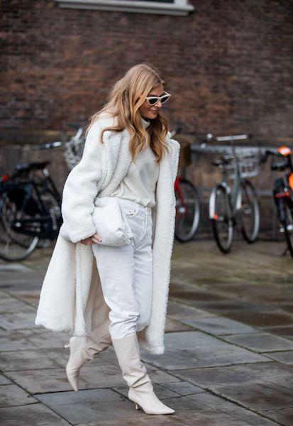 Cómo usar abrigos de fur 2020 2021 blanco