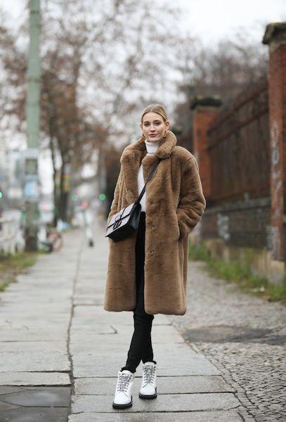 Cómo usar abrigos de fur 2020 2021 café