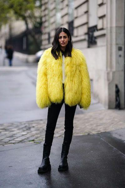 Cómo usar abrigos de fur 2020 2021 neón