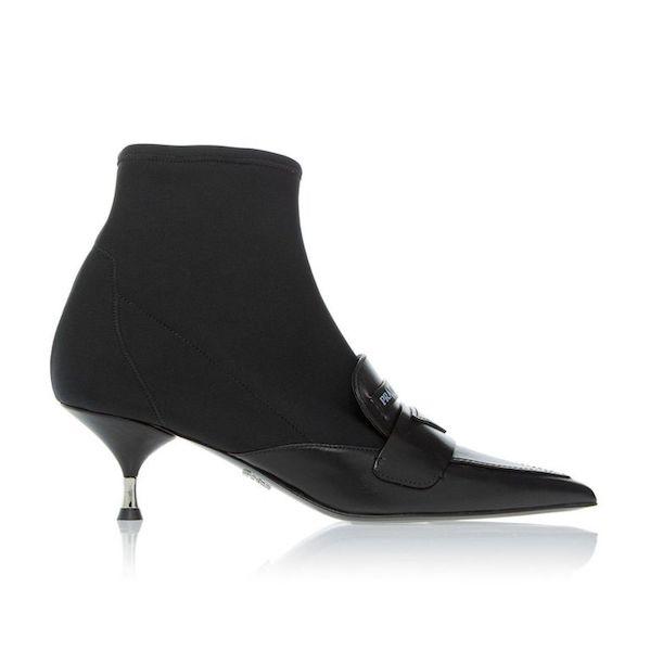 Cómo usar botas kitten heel Prada