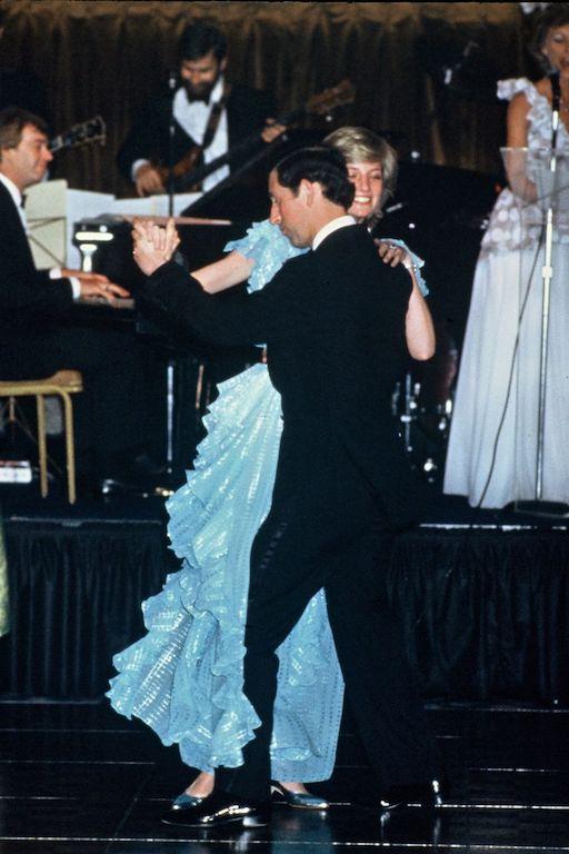 La princesa Diana y el príncipe Carlos en Australia William Baile