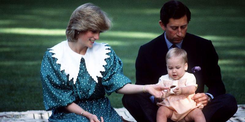 La princesa Diana y el príncipe Carlos en Australia bebé