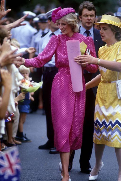 La princesa Diana y el príncipe Carlos en Australia ícono