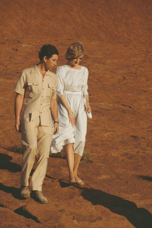 La princesa Diana y el príncipe Carlos en Australia paseo