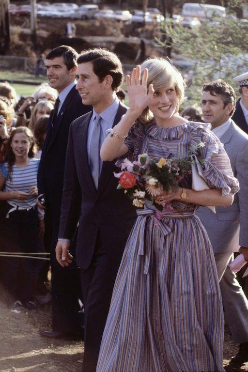 La princesa Diana y el príncipe Carlos en Australia visita
