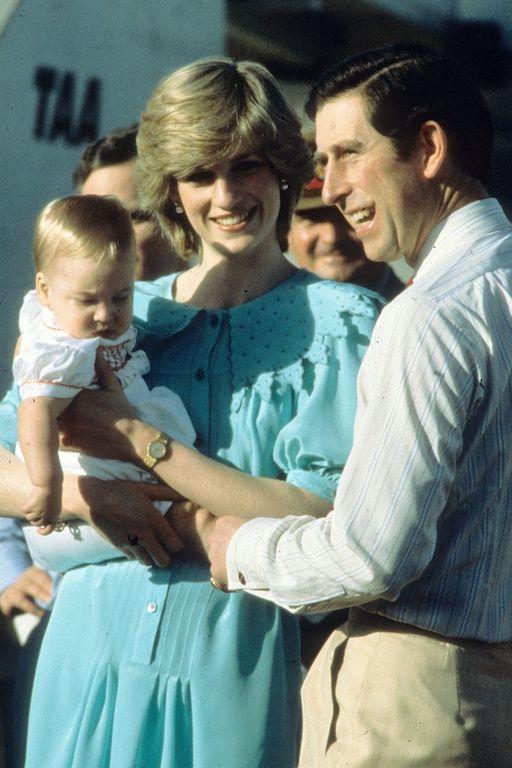 La princesa Diana y el príncipe Carlos en Australia William