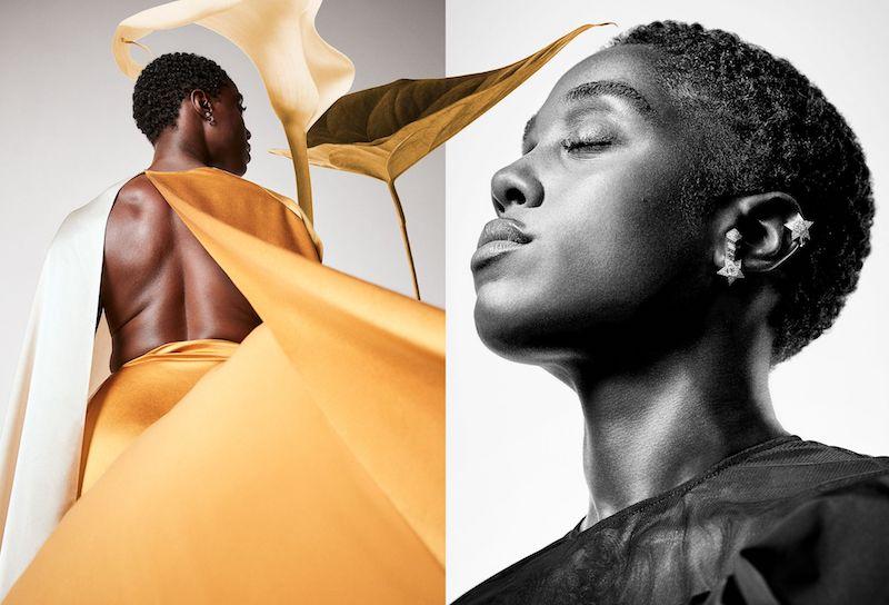 Lashana Lynch mujer negra 007 amarillo
