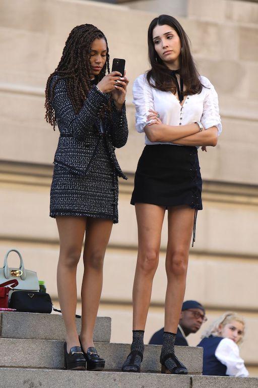 Looks en la nueva versión de Gossip Girl tweed