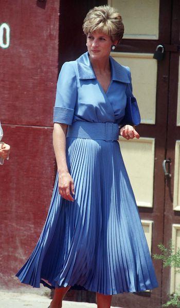 Mejores vestidos de Lady Di - azul