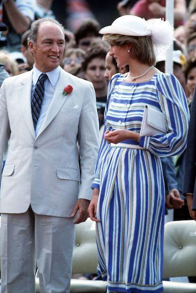 Mejores vestidos de Lady Di - rayas