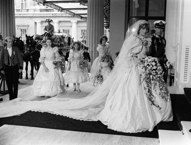 Segundo vestido de novia de Lady Di - fotos