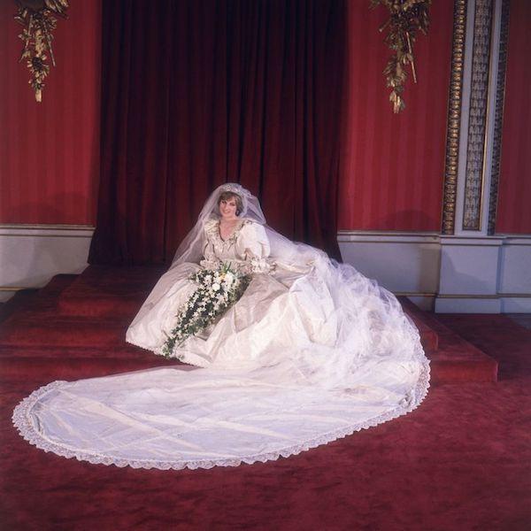 Segundo vestido de novia de Lady Di - retrato