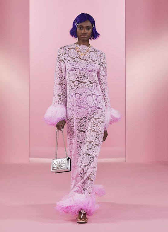 Dolce and Gabbana Power Pastel encaje