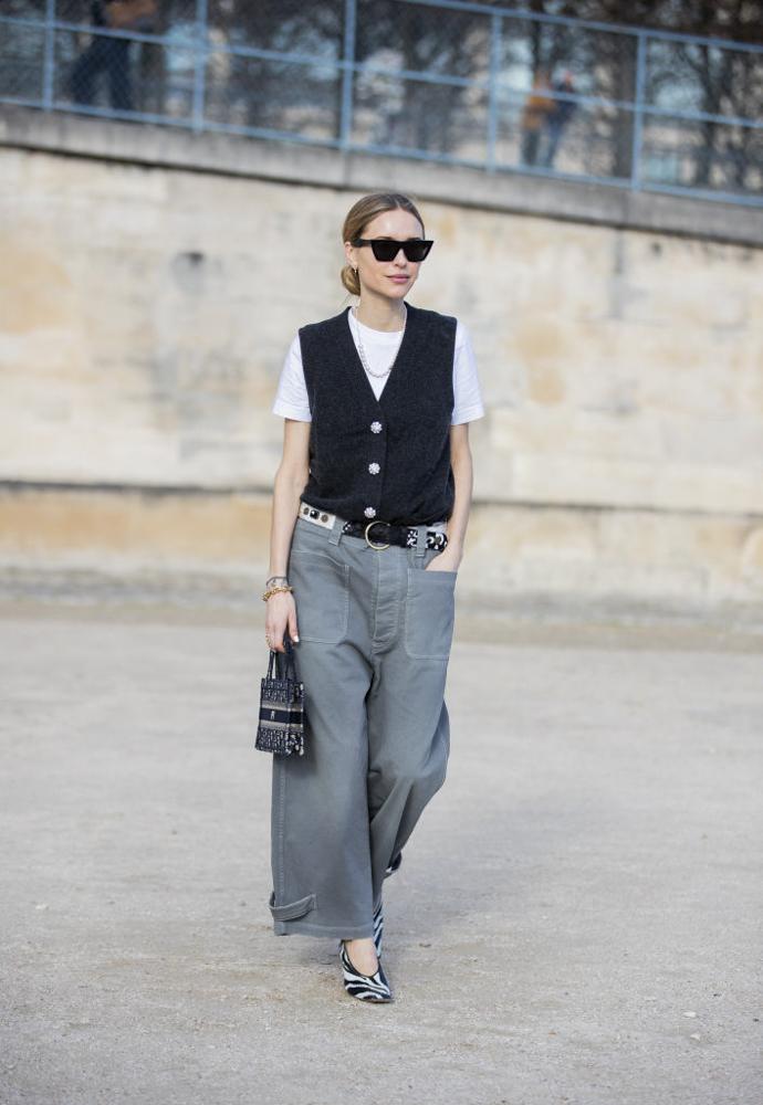 cómo usar pantalones anchos
