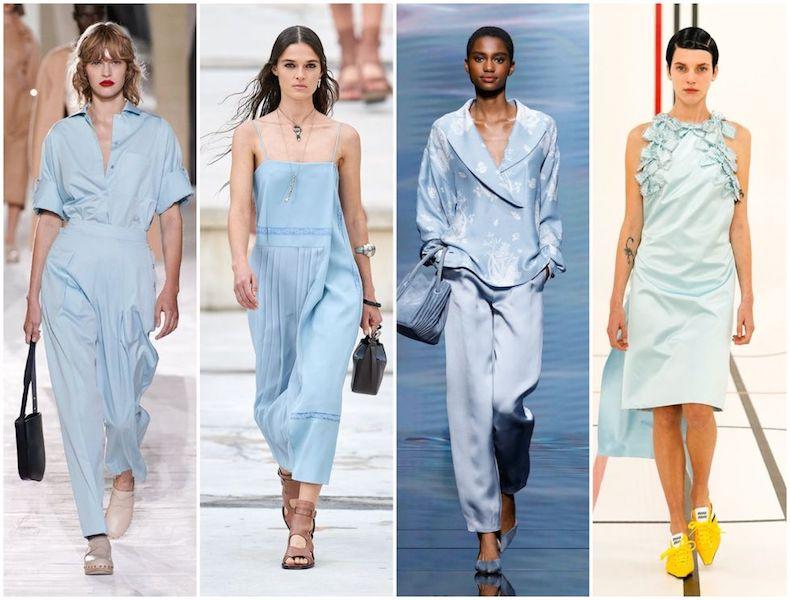Vestido Imperio 2021 baby blue diseñadores