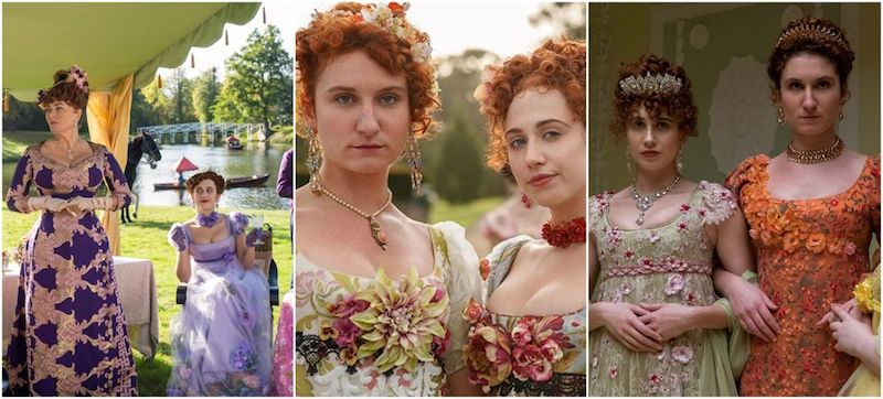 Vestido Imperio 2021 con flores
