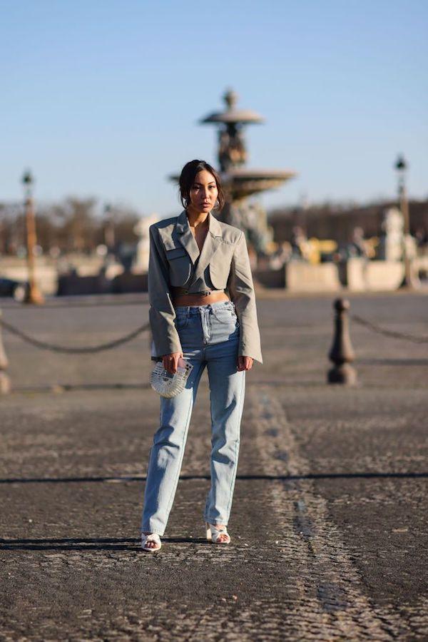 jeans con miniblazer