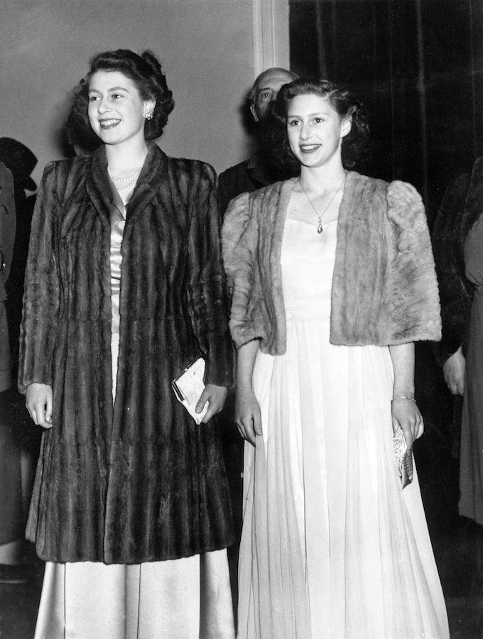 Isabel II Princesa Margarita abrigos