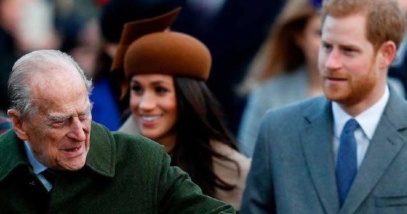 Meghan y Harry Príncipe Felipe