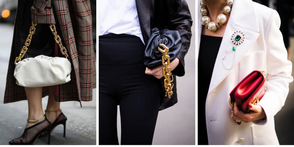 Tendencias de estilo en Instagram bolsos cadena ancha