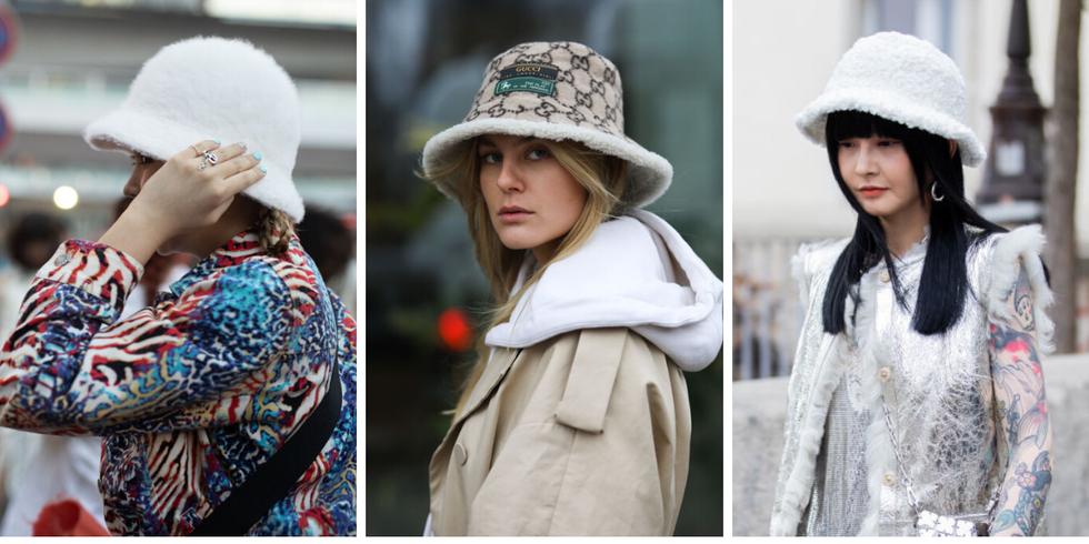 Tendencias de estilo en Instagram bucket hats de fur