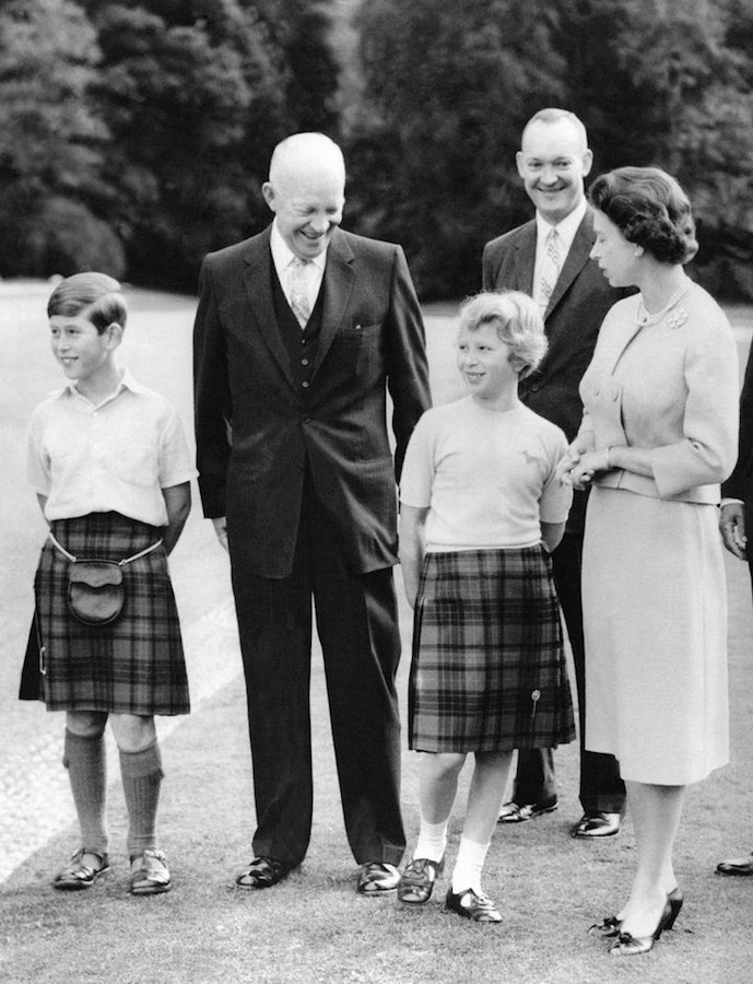 Reina Isabel II presidentes de Estados Unidos Eisenhower