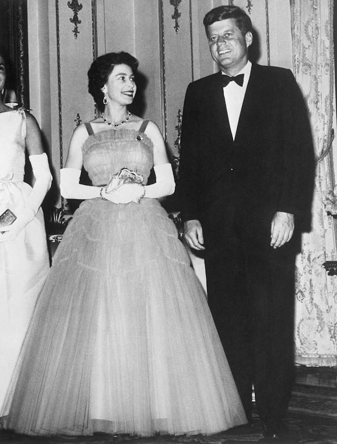 Reina Isabel II presidentes de Estados Unidos Kennedy