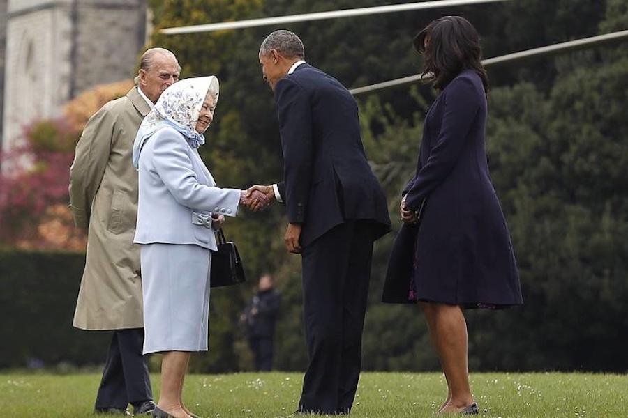 Reina Isabel II presidentes de Estados Unidos Obama