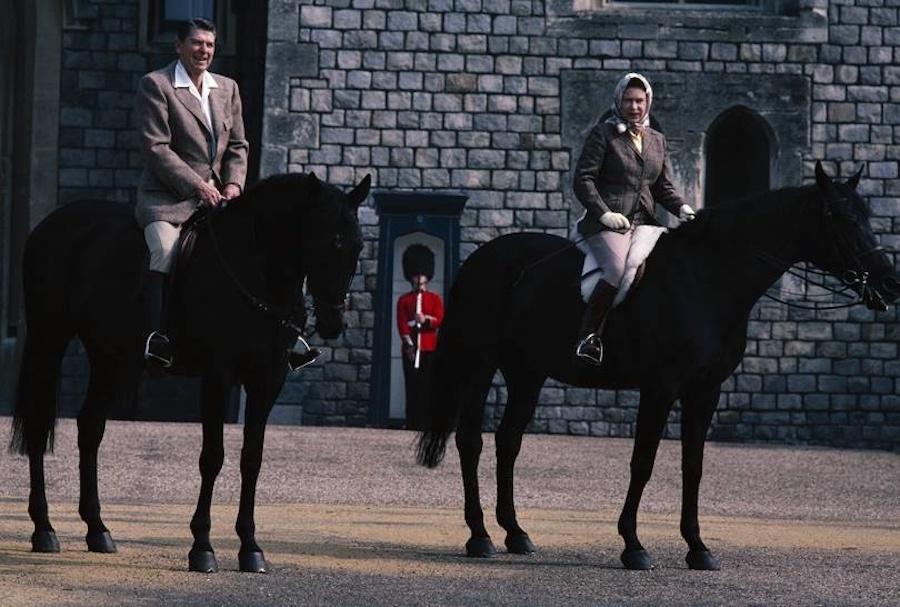 Reina Isabel II presidentes de Estados Unidos Reagan