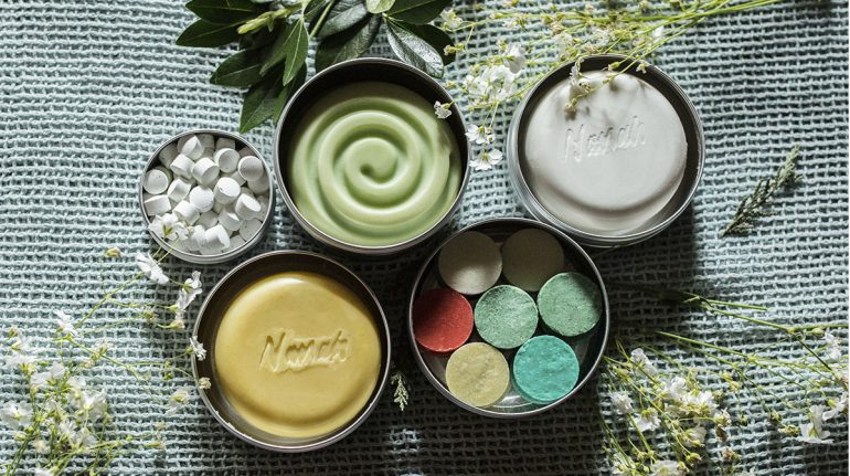 productos de belleza diaria libres de plástico